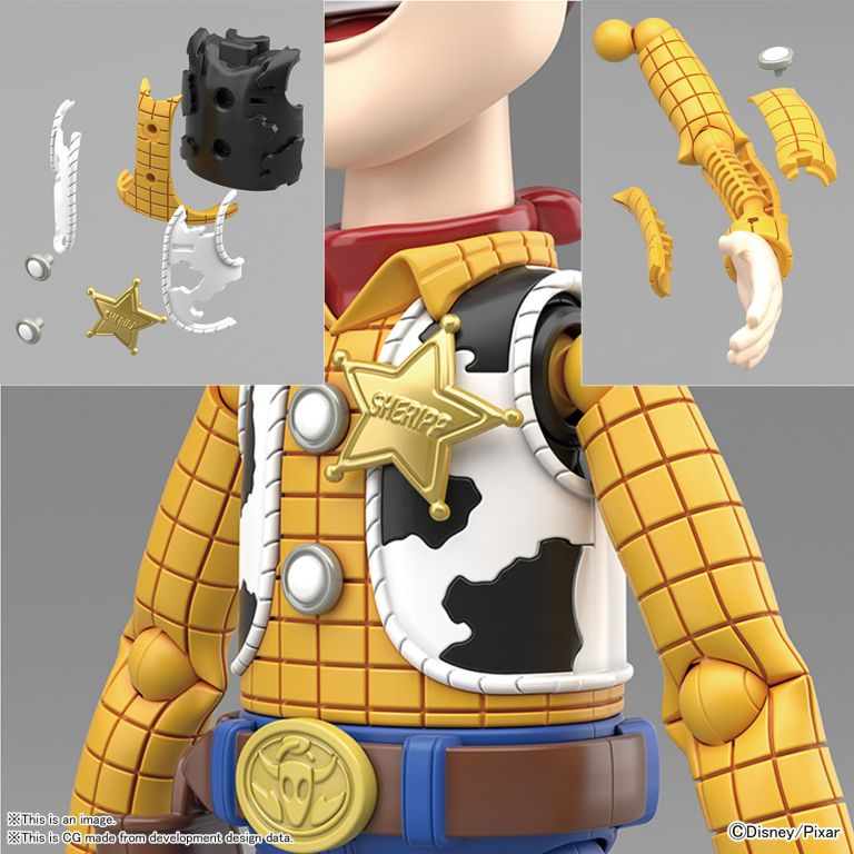 现货!玩具总动员4 胡迪 牛仔警长 拼装
