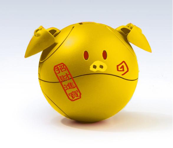万代 猪猪哈罗 2019猪年限定电镀版-